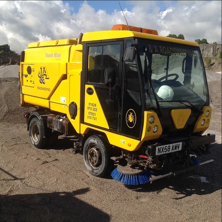 Road cleaning in Derbyshire